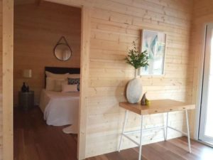 Granny flat Cyprus Canberra Home-Show 2016, bedroom and living room
