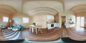 Granny flat Cyprus Canberra Home-Show 2016, living room panorama