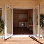 Granny flat Cyprus Canberra Home-Show 2016, outside doors
