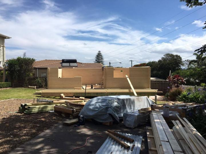 Construction day 3, Granny flat Cyprus, QLD, 2016
