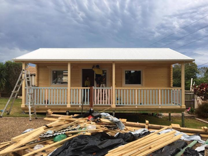 Construction day 6, Granny flat Cyprus, QLD, 2016