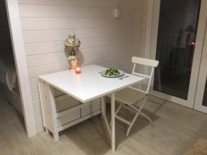 Granny flat Cyprus QLD, Sunshine Coast, 2017, table in living room