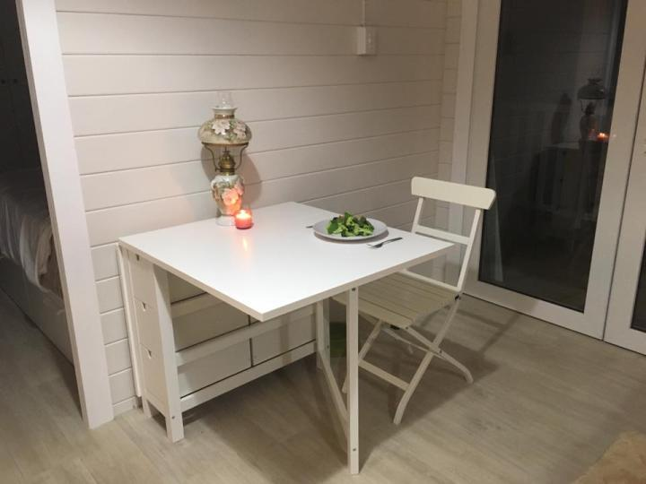 Granny flat Cyprus QLD, Sunshine Coast, 2017, table in living room