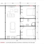 Granny flat Ibiza floor plan