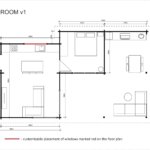 Granny flat Madeira 2 bedroom (v1) floor plan