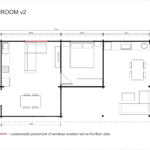Granny flat Madeira 2 bedroom (v2) floor plan