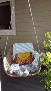 hanging chair, Granny flat Cyprus mothers day display village 2017
