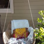 Hanging chair on a deck of Granny Flat Cyprus
