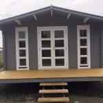 Log cabin Corsica Display in Brisbane - front