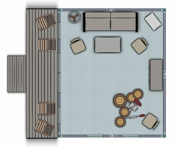Music room floor plan