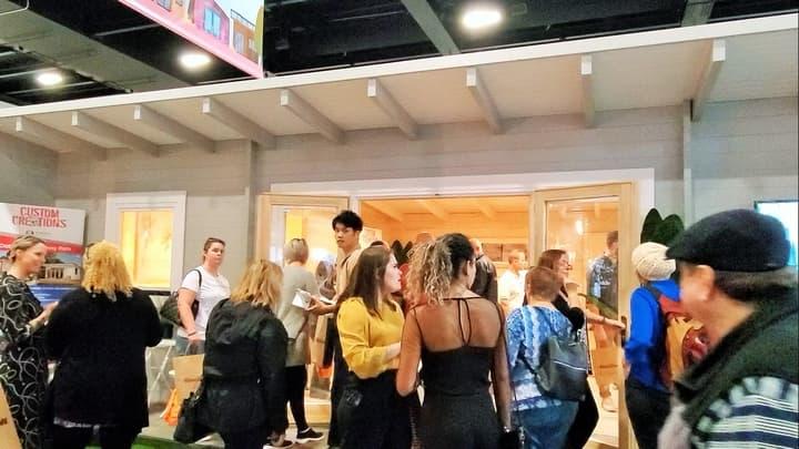 Visitors at Sicilia Display, HIA Home Show
